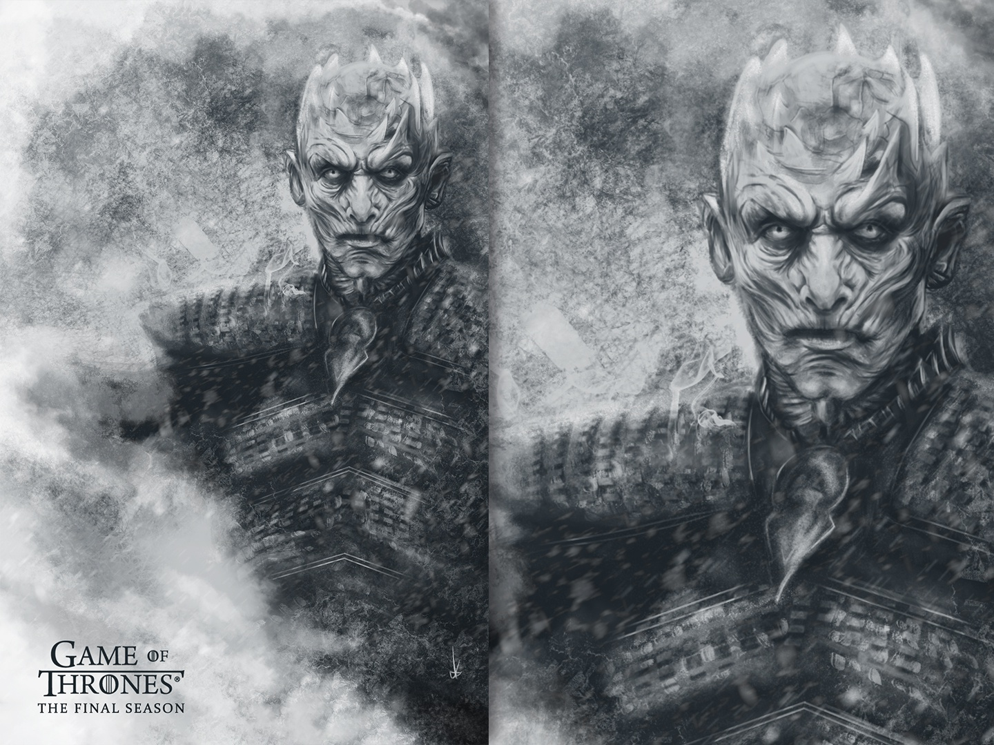 Game of Thrones Poster - Night King photoshop wacom character king night king night hbo tv series tv series art series poster design poster art poster game of thrones design illustration
