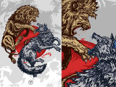 Lannister Vs Stark Illustration