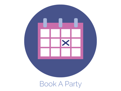 Book A Party Icon date calendar paint party web design icon