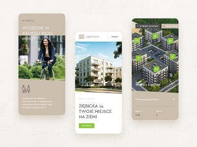 ziebicka14 property mobile app green real estate property mobile ux ui web web design