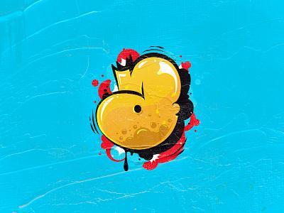 A vector graffitti design art letter type ilustración