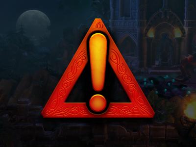 Fantasy Warning Icon videogames gaming pc rpg symbol warning ui graphics iconography icons illustration fantasy