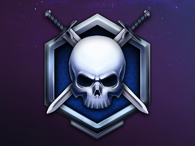 Skill Level Iconography difficulty skull mmo illustration vector painting iconography games rpg