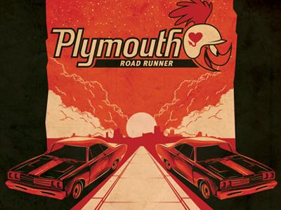 1969 Plymouth Road Runner shirt Illustration