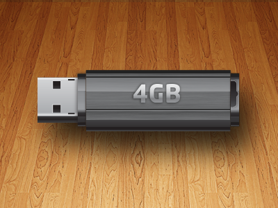 USB Flash Drive vector icon flash drive usb vector illustration iconography icon faux 3d 3d gradient effects inanimate objects still-life