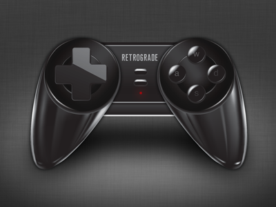 Gaming controller icon controllers faux 3d 3d typography glass objects still-life drawing study illustration mac 3d effect video games iconography icons
