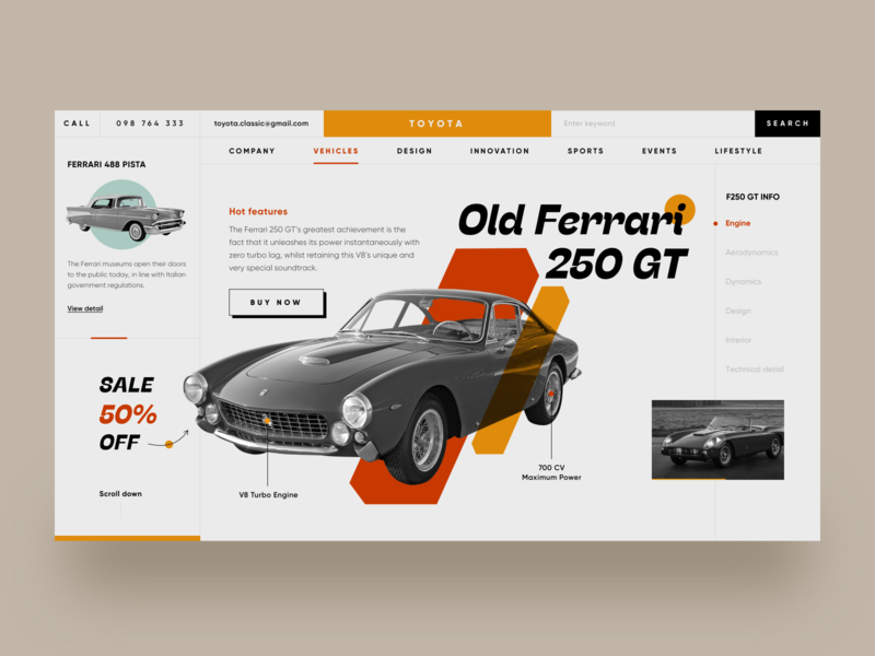 Car website concept