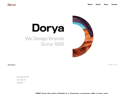 Dorya Creative Agency PSD Template business minimal psd template design startup agency modern creative