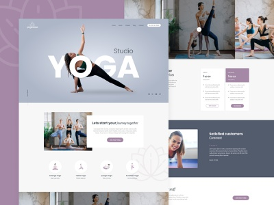 Yogavana Studio - Yoga, Health and Spiritual Wellness template elementor spiritual clean startup wellness webdesign yoga health meditation