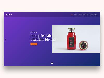 Canna Creative HTML Template. New hero demos. studio onepage agencies template unique creative modern