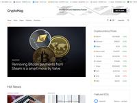 Cryptocurrency magazine HTML