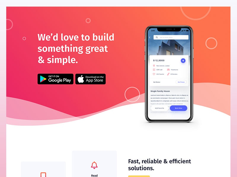 ElementorKit | Mobile App Landing mobile app elementor template landing page creative clean product startup