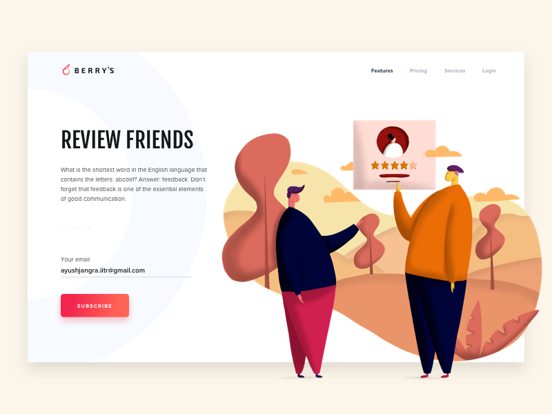 Berry || Landing Page by Ayush Jangra on Dribbble