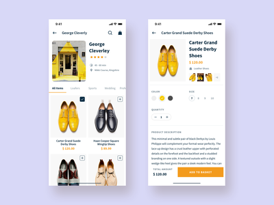 Ecommerce Online Store || Product Screen banking typography social seller ui design interaction basket shopping price list store online cart product ios app