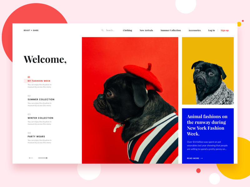Pet Boutique daily ui boutique design market cart shopping app ecommerce petshop website web bruvvv fashion clothing accessories dogs landing page homepage animals pets