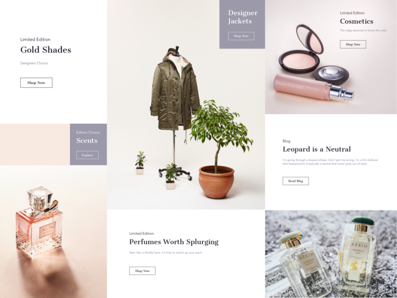 Gabi Gregg || Cards website landing daily ui web social clothing designer perfume products accessories women booking shopping ecommerce cards feed post blog blogger fashion