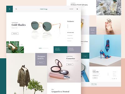 Gabi Gregg || Homepage ui studio design studio app daily ui bruvvv web media social layout cards booking ecommerce shopping fashion blogger freelance homepage landing website
