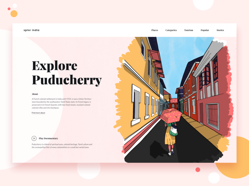Explore India || Landing ux dashboard shop design studio landing screen blog bruvvv daily ui ecommerce vector street branding design web ui interaction landing social profile illustration