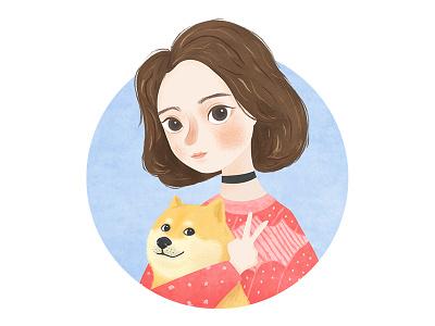 Girl and Dog……e doge girl