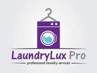 LaundryLux Pro Logo Design - Branding