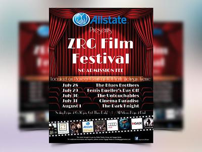 ZRG Film Festival - Flyer allstate flim festival film photoshop graphic flyer bundle leaflet design leaflet poster flyer designs flyer artwork flyer design flyer brand identity branding colorful graphic design design