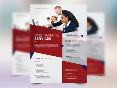 Training Services - Flyer