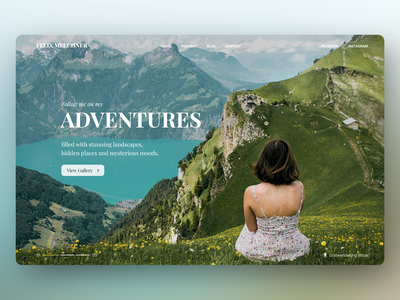 Photography Landing Page background image full-width image gallery photography website