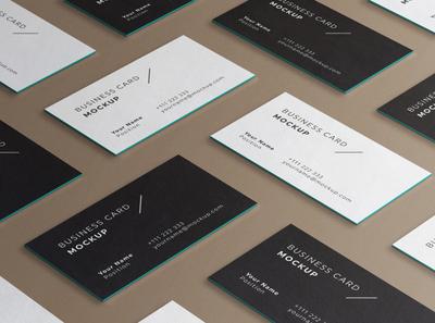 Minimal Business Cards Mockup # 1 template identity set edges psd corporate brand elegant clean mockup card cards business minimal