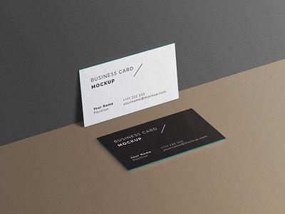 Minimal Business Cards Mockup # 2 template set psd mockup minimal identity elegant edges corporate clean cards card business brand