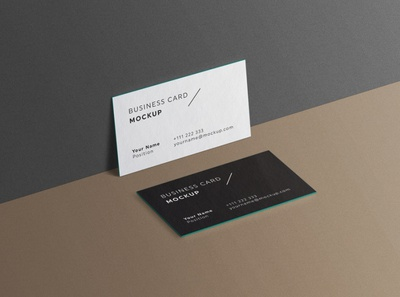 Minimal Business Cards Mockup # 2