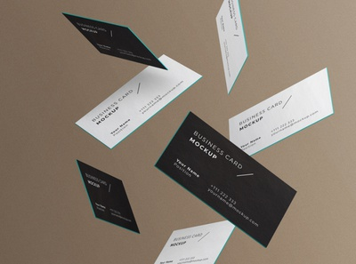 Minimal Business Cards Mockup # 3