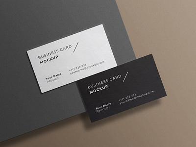 Minimal Business Cards Mockup # 4 template set psd mockup simple minimal branding identity elegant corporate clean cards card business brand