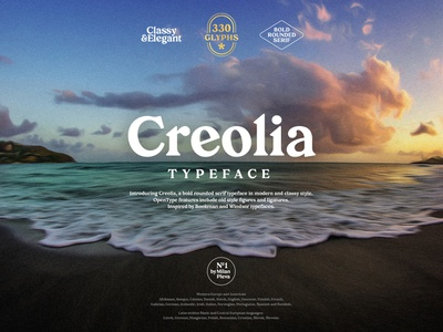 Creolia - Typeface #00 typography elegant vintage display design type typeface tropical caribbean creolia rounded bold serif font