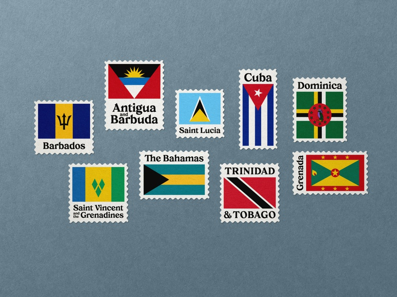 Creolia - Typeface #02 flags postal stamps vintage typography typeface type tropical serif rounded font elegant display design creolia caribbean bold