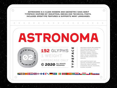 Astronoma - Typeface #00 astronomy typography universe minimalist geometric display sansserif space tech bold typeface font astronoma