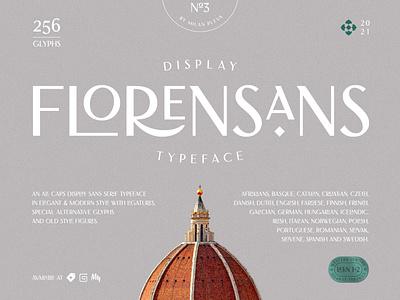 Florensans Typeface font design design type art deco branding logo lettering classy typeface elegant florence typography sans serif display luxury modern font