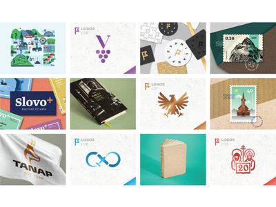 portfolio collection identity personal map illustration book stamp branding logo portfolio