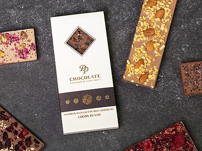 chocolate company rebranding slovak monogram initials logo handmade visual identity branding luxury packaging chocolate