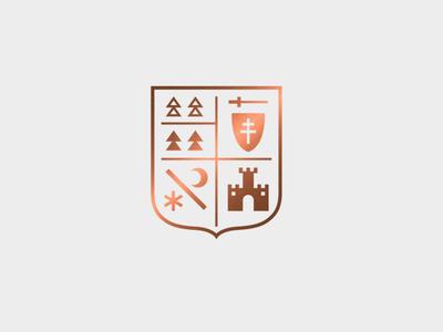 Slovak regions logo concept heraldic concept slovak region pack set marks emblem logo coat of arms