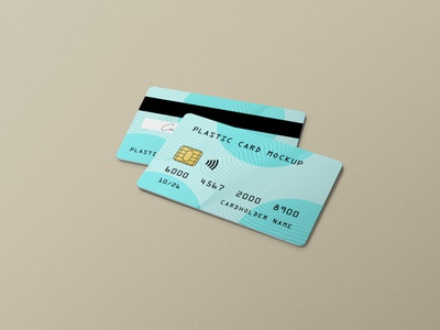 Plastic Credit / Gift / Membership Card Mockup psd realistic photorealistic minimal mockup membership gift card credit plastic