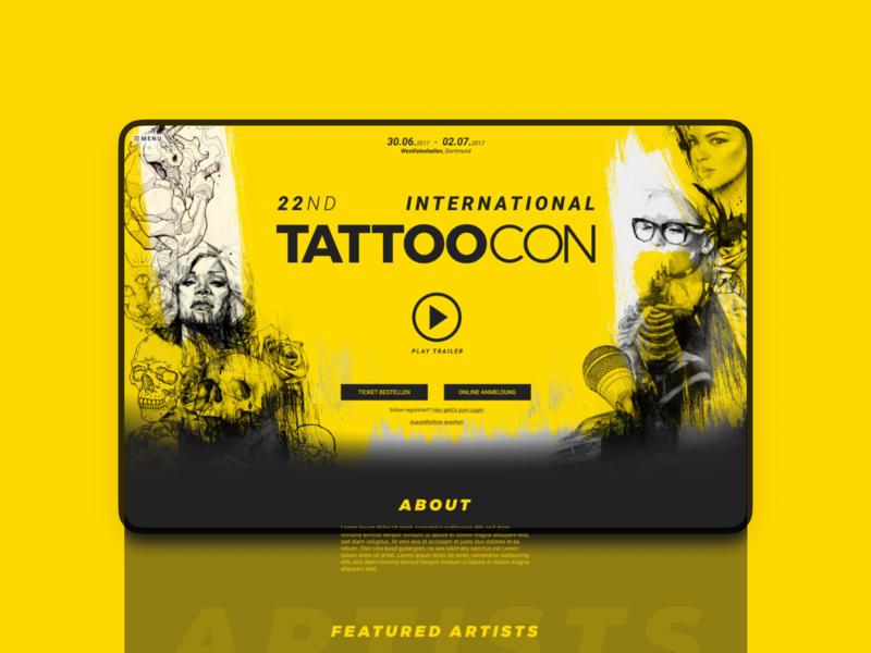 Tattoocon   Conference Marketing Design illustration design clean figma branding web ui