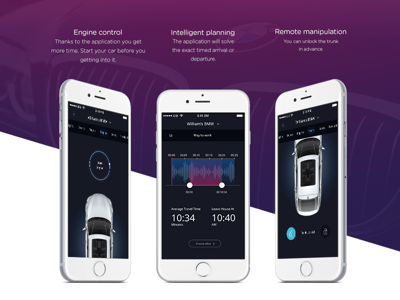 Bmw Connected App by Veronika Svátková on Dribbble