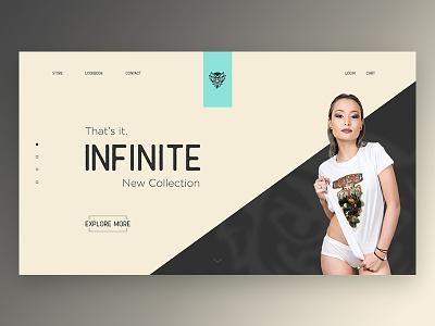 Infinite Web Design bioshock fashion mobile concept motion interactive design web ux ui