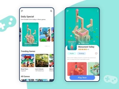 Game Store App User Interface Design