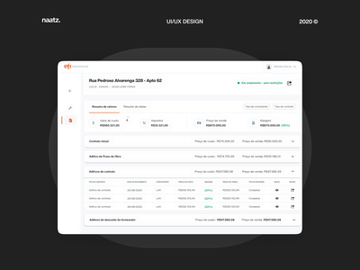 Loft – Renovation Hub (Budget) desktop web ui ux product feature company startup animation design interface renovation saas clean ux real estate finance platform budget ui