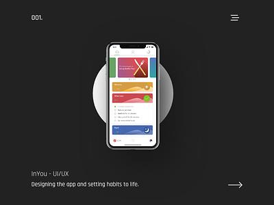 InYou App @ Dashboard ux mobile app health inyou