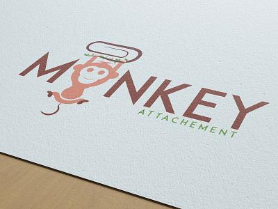 Mockey Attachment vector branding advartising illustration combination mark pictorial mark logo icon design banner