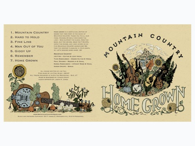 Mountain Country - Home Grown record packaging file