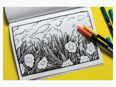 Into the Woods coloring book coloring page book coloring adult