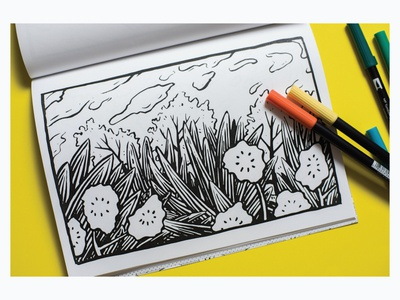 Into the Woods coloring book coloring page